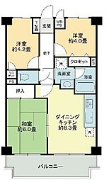 ライオンズマンション新座[3階]の間取り