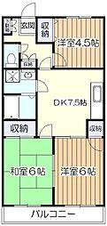 コーツ21[1階]の間取り