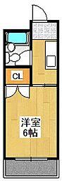 コーポ三和[401号室]の間取り