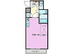 三重県鈴鹿市稲生塩屋2丁目の賃貸マンションの間取り