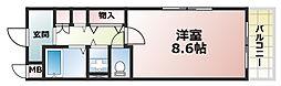 アビターレ六甲[5階]の間取り
