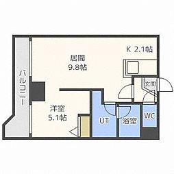 グランカーサ永山公園通east[8階]の間取り