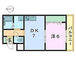 艸香駅前ビル[503号室]の間取り