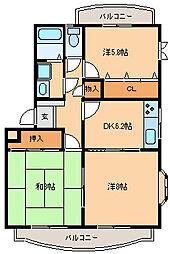 シェ・モア中央町4[121号室]の間取り