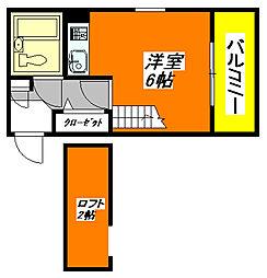 Vie・八戸ノ里 202号室[2階]の間取り