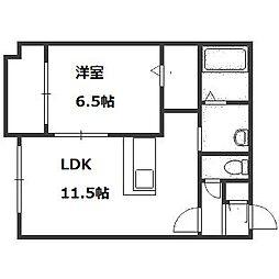 プレミアシティ札幌[2階]の間取り