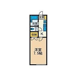 フラットII[1階]の間取り