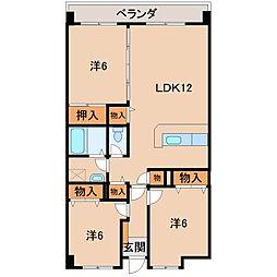 メゾンクロダ弐番館[3階]の間取り