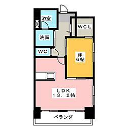 TRIBUTE元浜[3階]の間取り