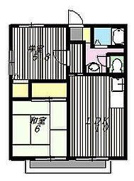 サントピアK[1階]の間取り