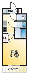 アルティザ淡路駅東 11階1Kの間取り
