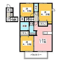D-room 花畑弐番館[2階]の間取り