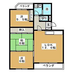 マンション富士[1階]の間取り