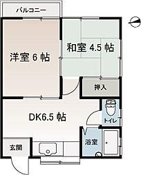 岩崎アパート[201号室]の間取り