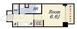 プレサンスOSAKADOMECITYスクエア 3階1Kの間取り