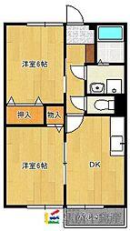 メゾンフルールA棟[104号室]の間取り