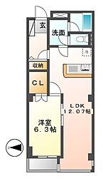 丸茂御園ビル[6階]の間取り