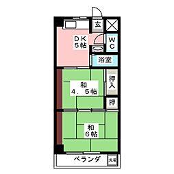 マツヤマンション[4階]の間取り