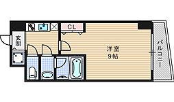 カスタリアタワー肥後橋[10階]の間取り