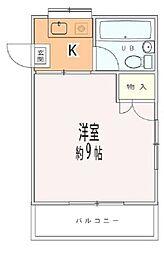 埼玉県熊谷市平戸の賃貸マンションの間取り