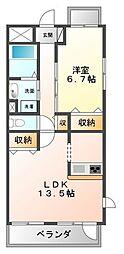 グランジェ東甲子園[3階]の間取り