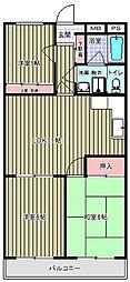 フォレストグリーン[205号室]の間取り
