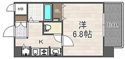 大阪府大阪市西淀川区花川2の賃貸マンションの間取り