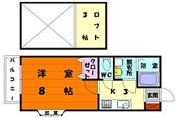 エステートグレース[1階]の間取り