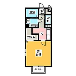 サンボナール下中居[1階]の間取り