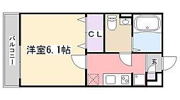 リブリ・薬園台[202号室]の間取り