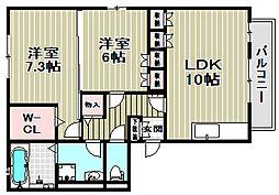 ファミールコート[2階]の間取り
