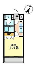 コートダジュールin桃ヶ丘B[207号室]の間取り