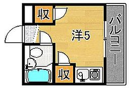 大阪府摂津市香露園の賃貸マンションの間取り