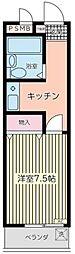 T's garden蕨[307号室]の間取り