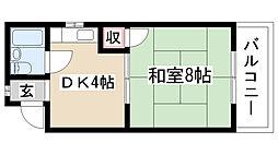 シャトウ山田[101号室]の間取り