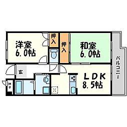 シャルム五反田[2階]の間取り