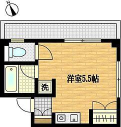 ピュアガーデン渡田[3階]の間取り