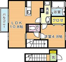 ローズハイツナナ[2階]の間取り