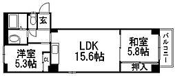 宮の沢一条館[6階]の間取り