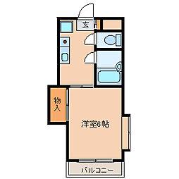 第3サンフラワーマンション 1階1Kの間取り