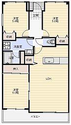 ホワイトハウスうれし野[4階]の間取り