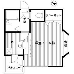 東京都練馬区豊玉南1丁目の賃貸アパートの間取り