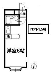 ベルピア津田沼Ⅱー1[2階]の間取り