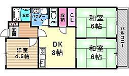 グランドハイツ澤野井[402号室号室]の間取り