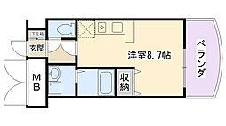 兵庫県西宮市御茶家所町の賃貸マンションの間取り