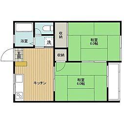 イタクラアパート6号館[5号室]の間取り