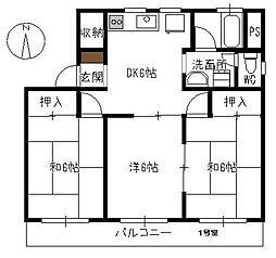 みどりマンション[301号室]の間取り