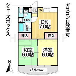 愛知県名古屋市南区北内町1丁目の賃貸マンションの間取り