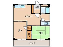 インペリアル平成[2階]の間取り