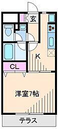 神奈川県横浜市港北区綱島西4丁目の賃貸マンションの間取り